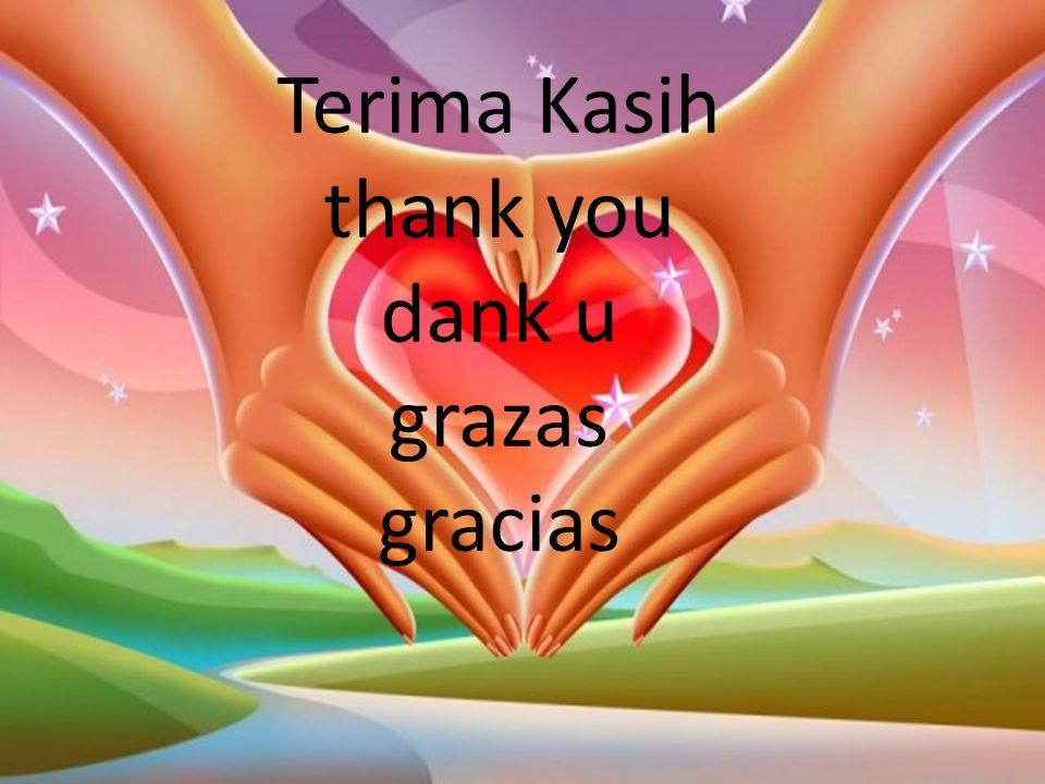 Terima Kasih thank you dank u grazas gracias