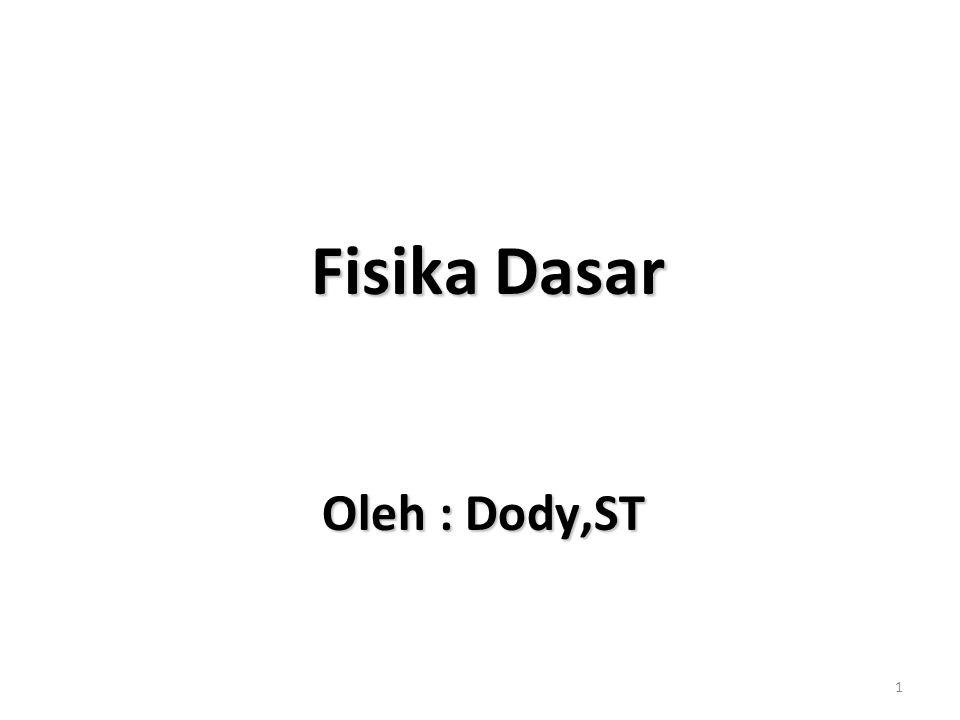 1 Fisika Dasar Fisika Dasar Oleh : Dody,ST Oleh : Dody,ST