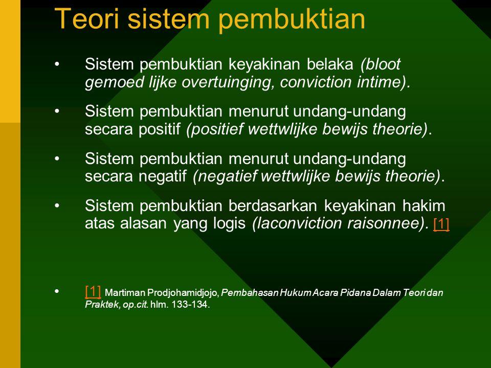 Penilaian thd Saksi: a.persesuaian antara keterangan saksi satu dengan yang lain; b.