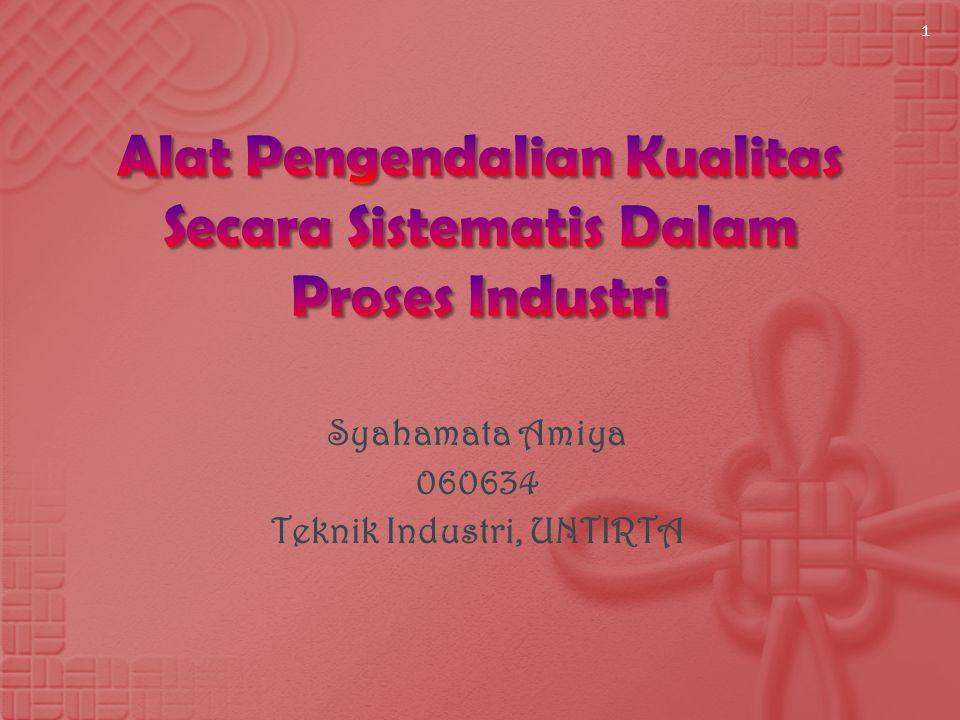 Syahamata Amiya 060634 Teknik Industri, UNTIRTA 1