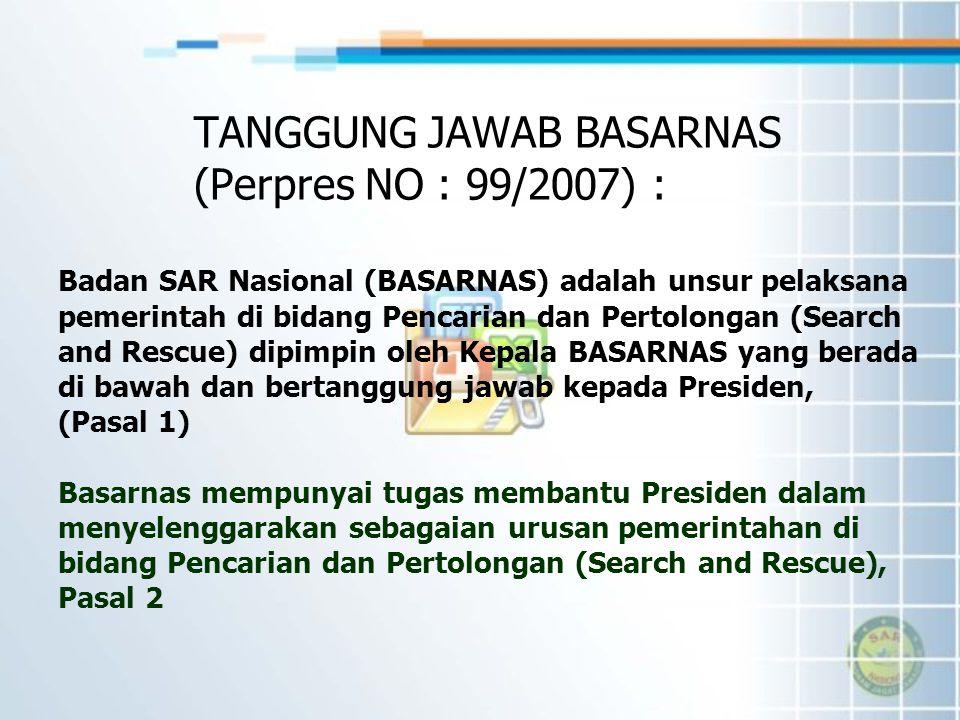 Badan SAR Nasional (BASARNAS) adalah unsur pelaksana pemerintah di bidang Pencarian dan Pertolongan (Search and Rescue) dipimpin oleh Kepala BASARNAS