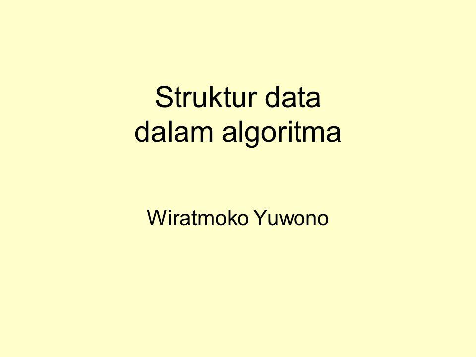 Contoh kasus Representasikan kasus diatas menggunakan struktur data yang tepat.