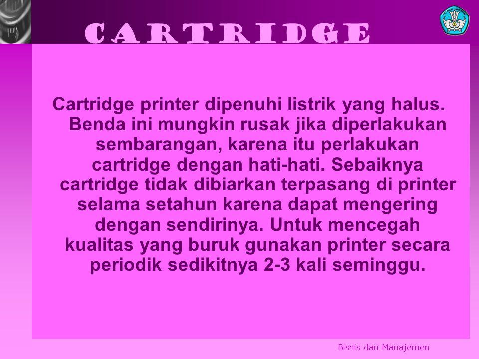Cartridge Cartridge printer dipenuhi listrik yang halus.