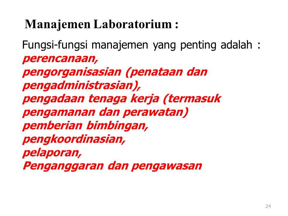 23 KOMPETENSI BIDANG PENGELOLAAN LABORATORIUM 7.Membuat dan menstandardisasi larutan/ pereaksi Uraian Unit: Unit kompetensi ini digunakan untuk menyia
