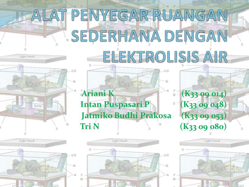 Ariani K(K33 09 014) Intan Puspasari P(K33 09 048) Jatmiko Budhi Prakosa (K33 09 053) Tri N(K33 09 080)