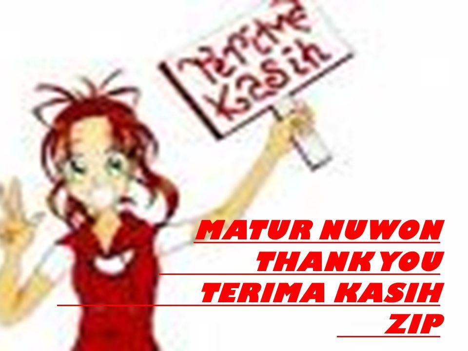 MATUR NUWON THANK YOU TERIMA KASIH ZIP