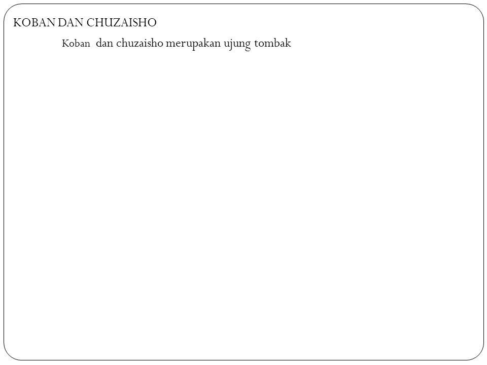 KOBAN DAN CHUZAISHO Koban dan chuzaisho merupakan ujung tombak