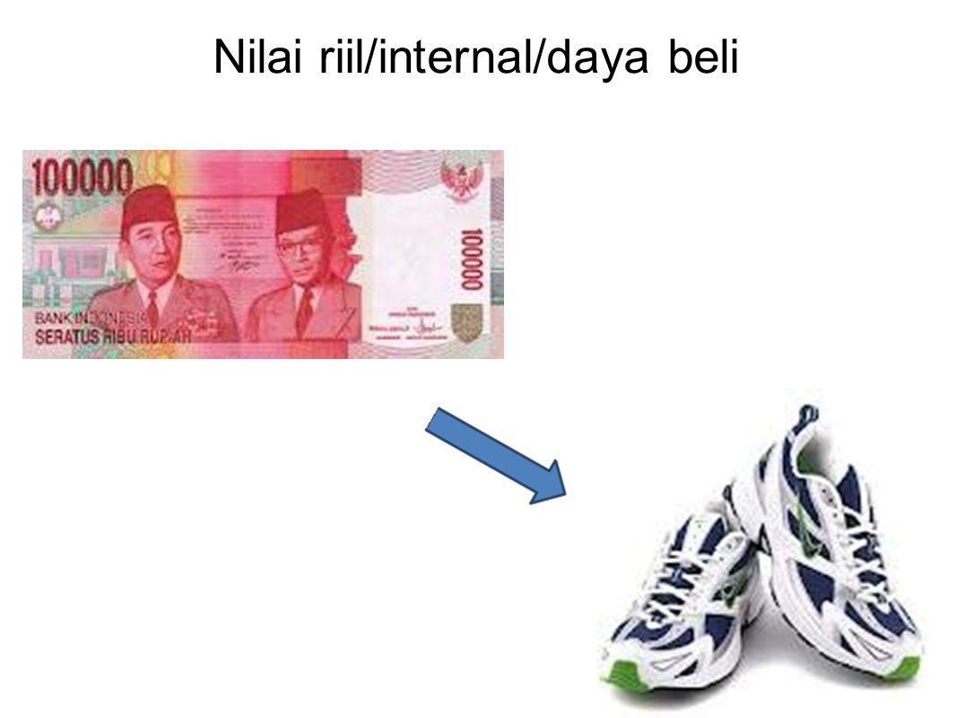 Nilai riil/internal/daya beli