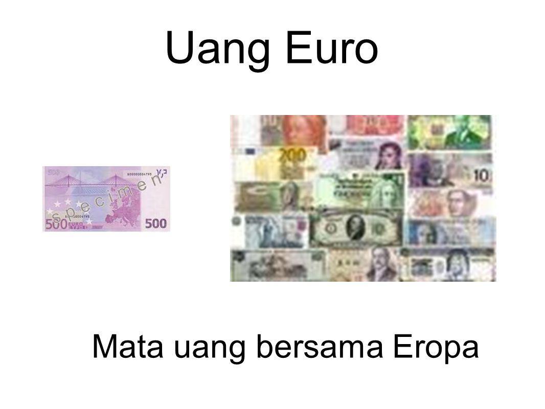 Uang Euro Mata uang bersama Eropa