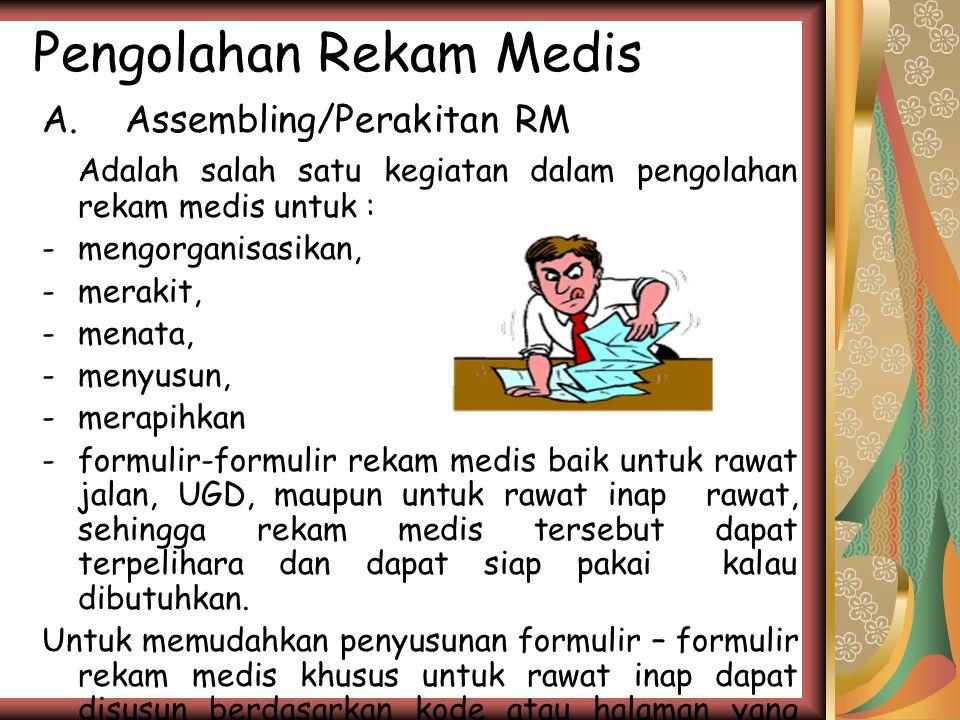 Pengolahan Rekam Medis A.