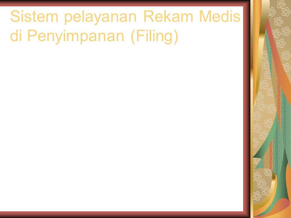 Sistem pelayanan Rekam Medis di Penyimpanan (Filing)