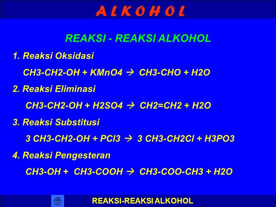 A L K O H O L LATIHAN SOAL CH3 I CH3-C-CH2-OH l CH3 J A W A B : OH I CH3-C-CH2-CH-CH3 l I CH3 CH3 J A W A B : Tuliskan rumus struktur dari ! 1. 2,2-di