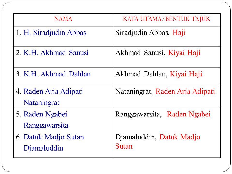 7.Sutan Perang BustamiBustami, Sutan Perang 8. Teuku Mohammad DaudsjahMohammad Daudsjah, Teuku 9.