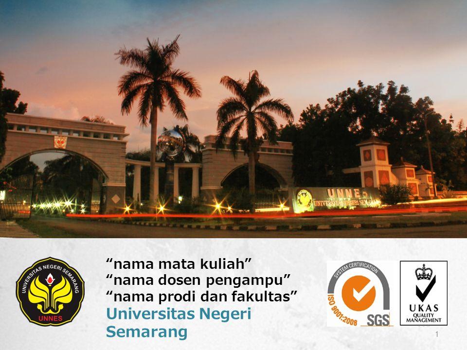 nama mata kuliah nama dosen pengampu nama prodi dan fakultas Universitas Negeri Semarang 1