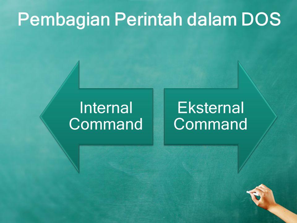 Pembagian Perintah dalam DOS Internal Command Eksternal Command
