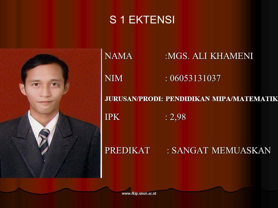 www.fkip.unsri.ac.id NAMA :MGS.