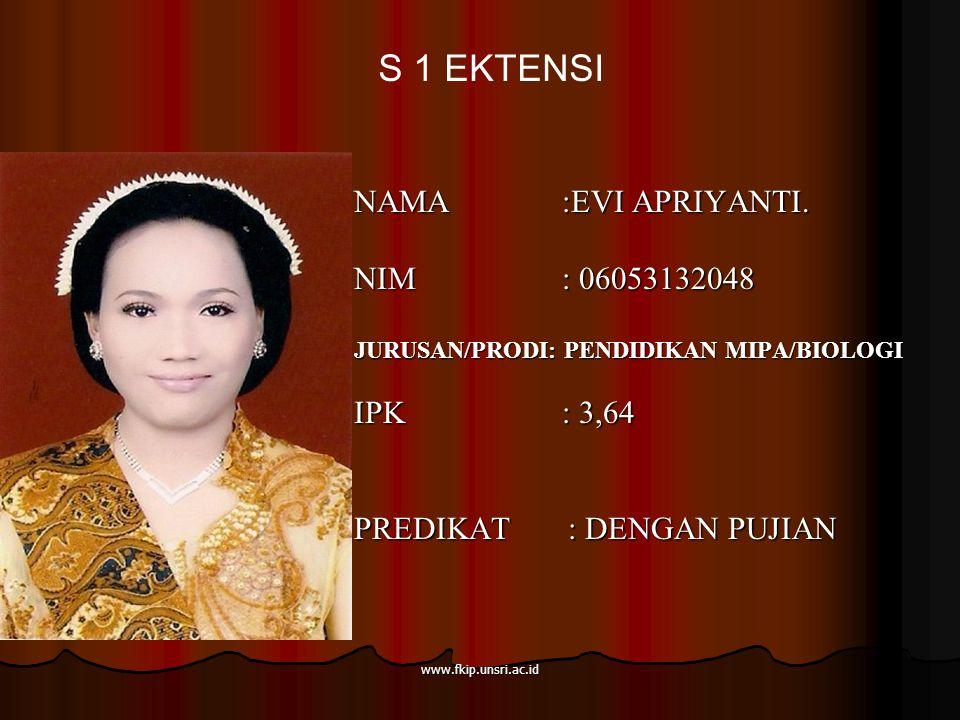 www.fkip.unsri.ac.id NAMA :EVI APRIYANTI.