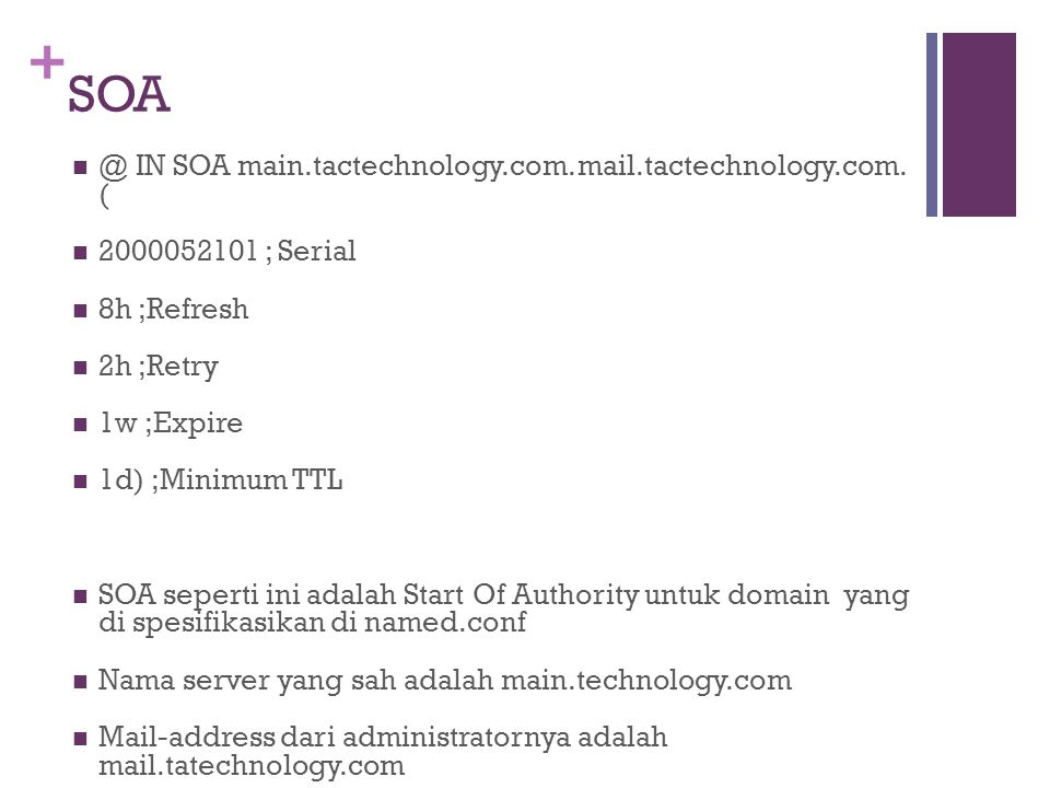 + SOA @ IN SOA main.tactechnology.com. mail.tactechnology.com.