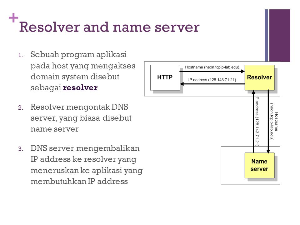 + Resolver and name server 1.