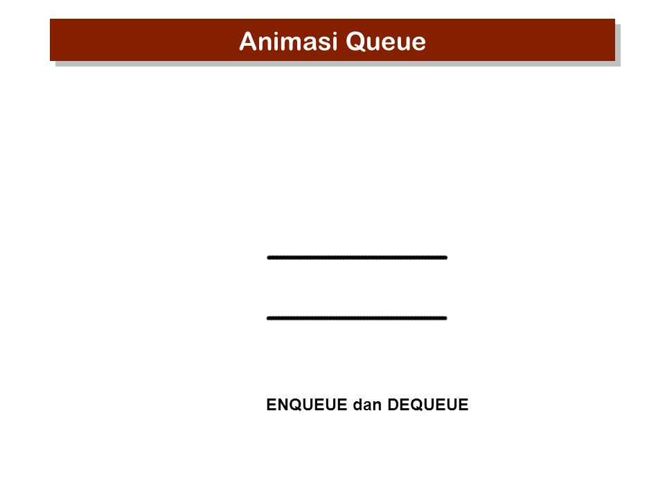 ENQUEUE dan DEQUEUE Animasi Queue