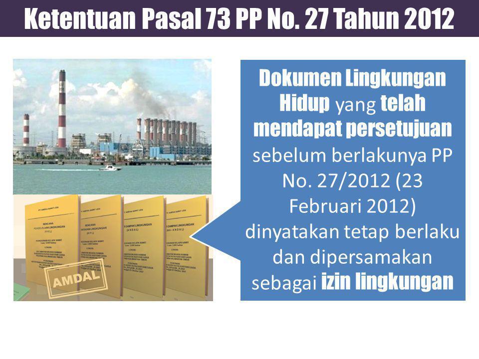 Ketentuan Pasal 73 PP No.