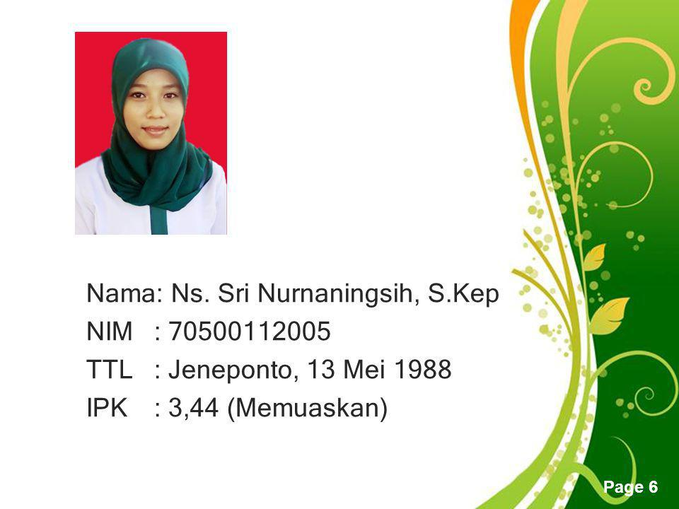 Free Powerpoint Templates Page 6 Nama: Ns.