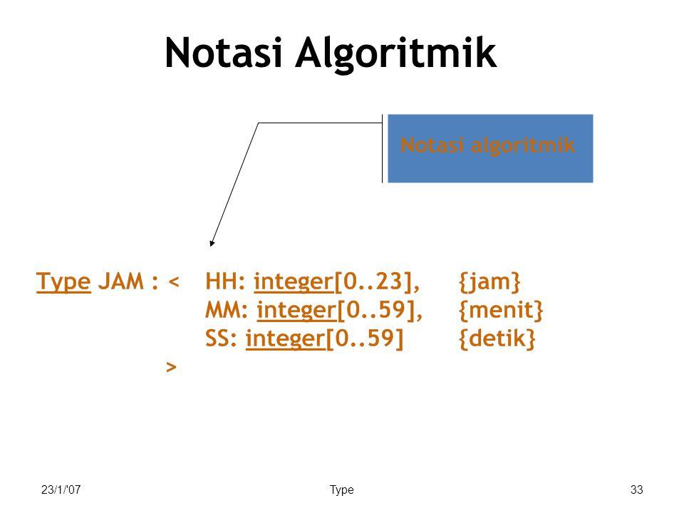 23/1/'07Type33 Notasi Algoritmik
