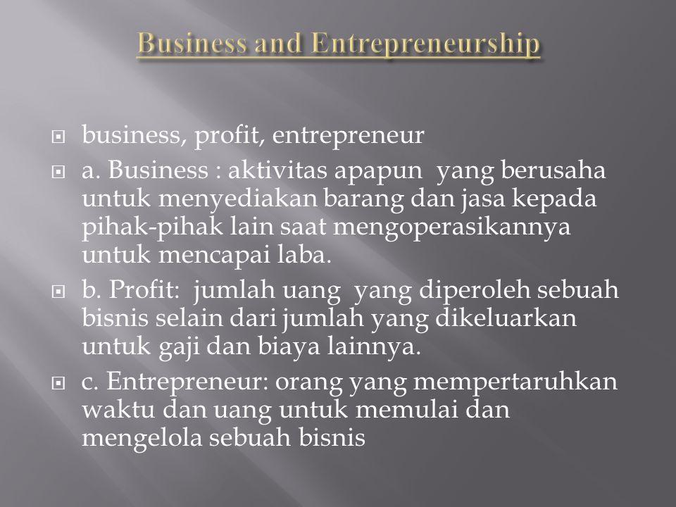 Menyesuaikan Resiko dengan Laba Business risk Revenue lossprovit