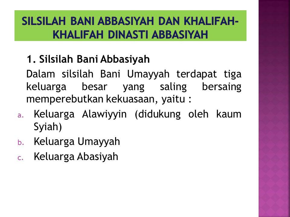 1.Muhammad bin Ali bin Abdullah, 2. Ibrahim al Imam, 3.