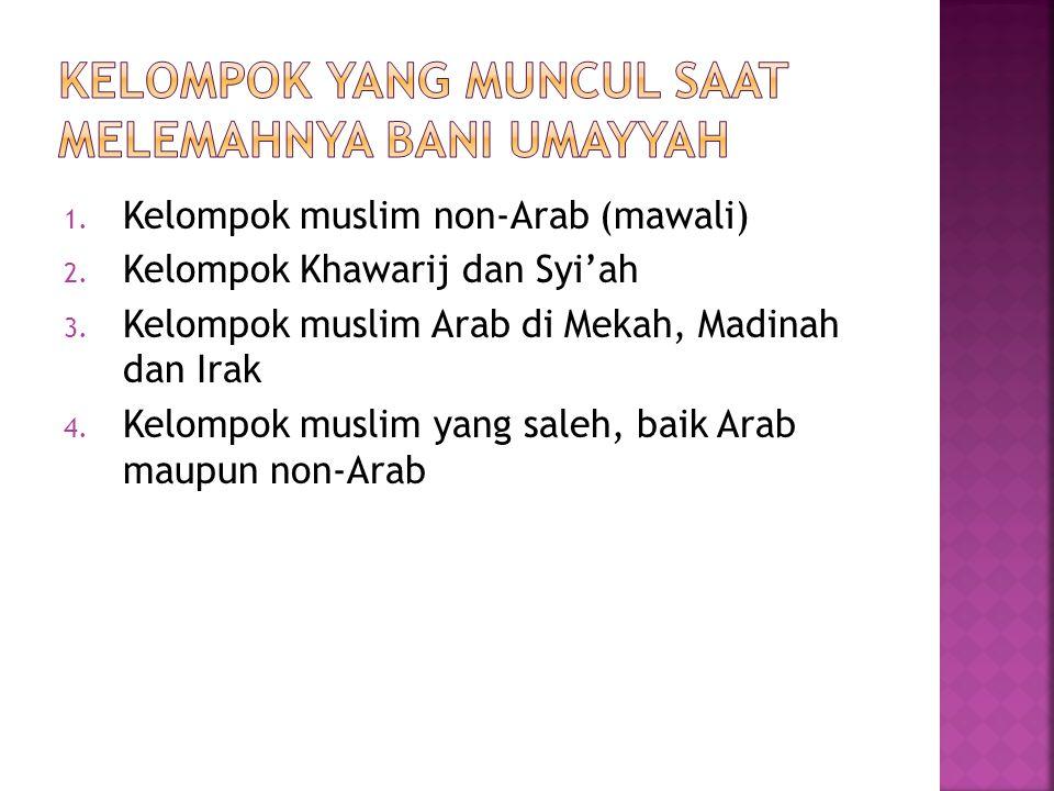 1.Figur khalifah yang lemah 2. Hak Istimewa bangsa Arab Suriah 3.