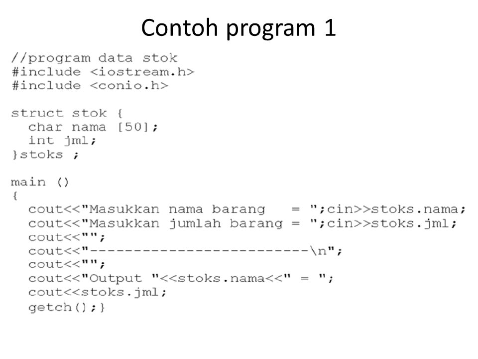 Contoh program 3 :