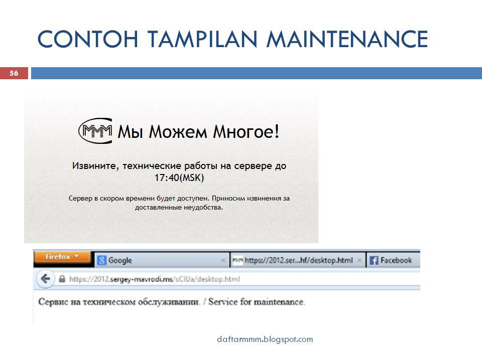 CONTOH TAMPILAN MAINTENANCE daftarmmm.blogspot.com 56