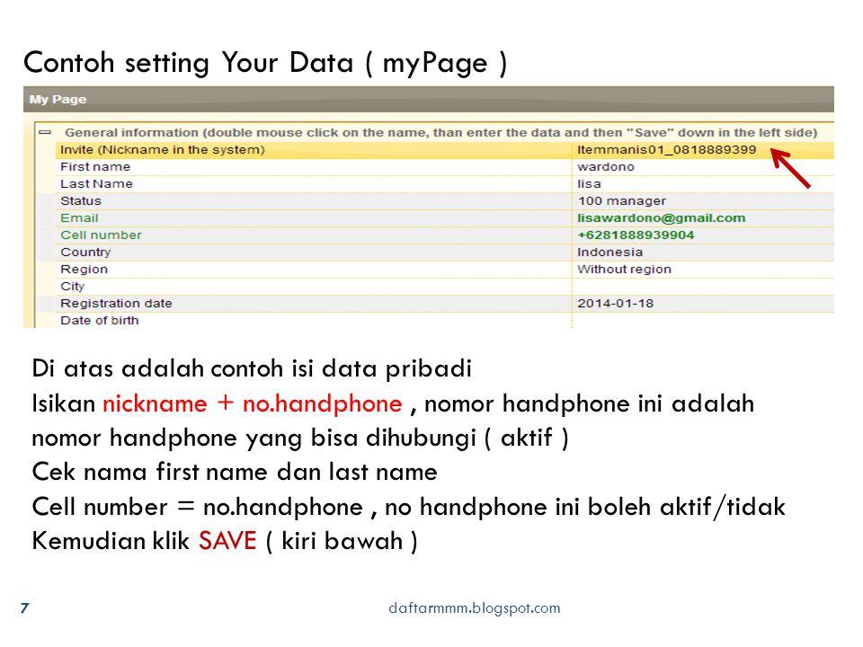 18 daftarmmm.blogspot.com Setiap recover password, sistem mmm akan mengirimkan link utk reset password ke email tsb.