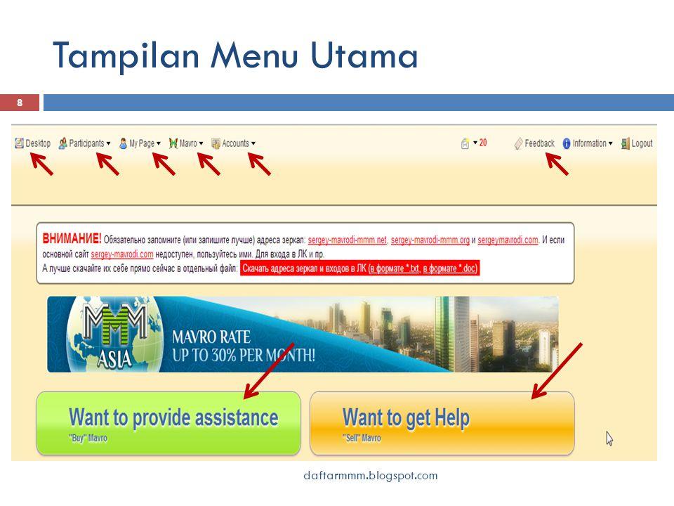 Tampilan Menu Utama daftarmmm.blogspot.com 8
