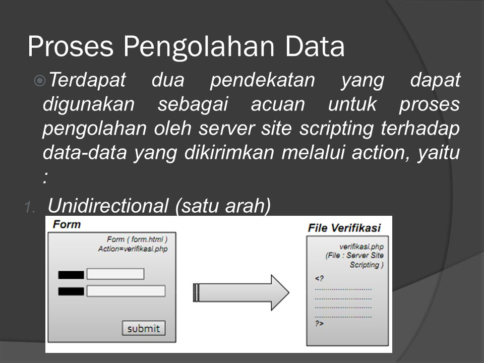 Proses Pengolahan Data  2. Bidirectional (dua arah)