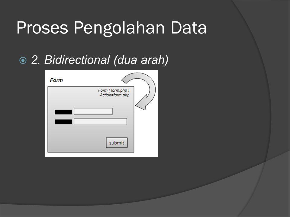 Proses Pengolahan Data  2. Bidirectional (dua arah)