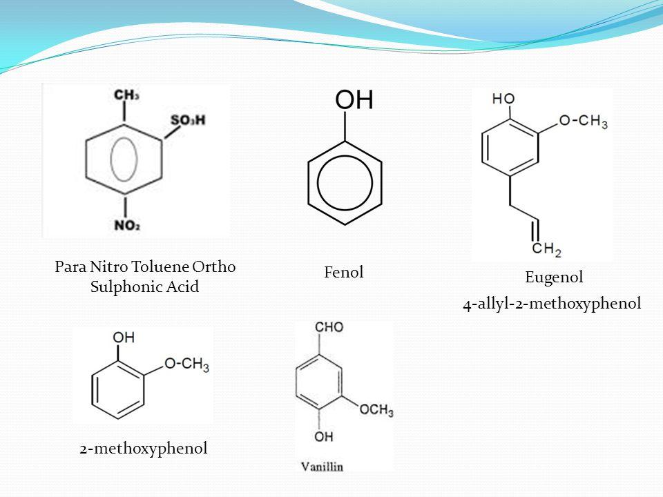Para Nitro Toluene Ortho Sulphonic Acid Fenol Eugenol 2-methoxyphenol 4-allyl-2-methoxyphenol