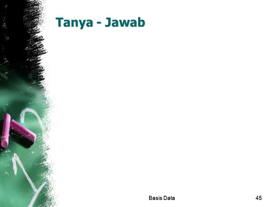 Tanya - Jawab Basis Data45