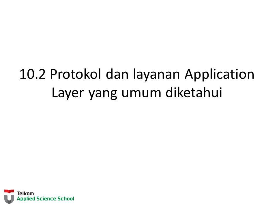 10.2 Protokol dan layanan Application Layer yang umum diketahui