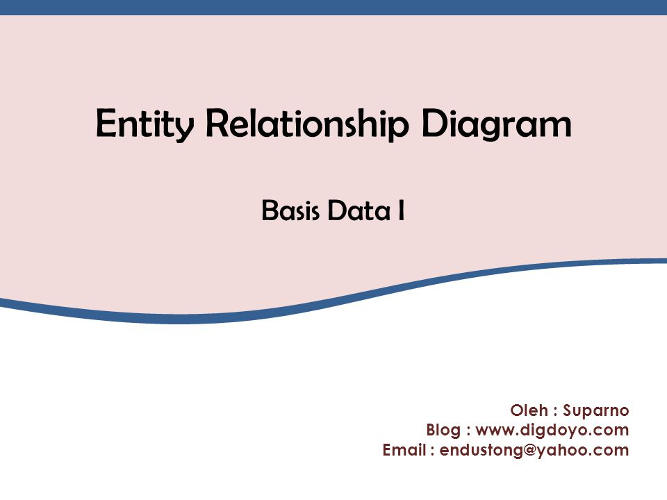 Review Model Data Jenis model data : a.Model data berbasis objek 1.Entity Relationship Model 2.Semantic Model b.Model data berbasis record 1.Relational Model 2.Hirarchycal Model (Tree Structure) 3.Netword Model (Plex Structure) c.Model data berbasis fisik 1.Unifying Model 2.Frame Memory