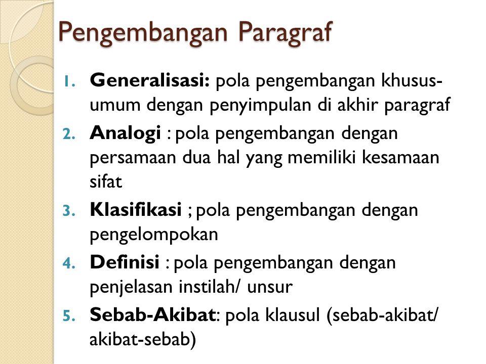 Jenis Paragraf Berdasar Isinya 1. Argumentatif : berisi opini/ pendapat 2. Persuasif : berisi ajakan/ bujukan 3. Eksposisi : berisi paparan/ penjelasa