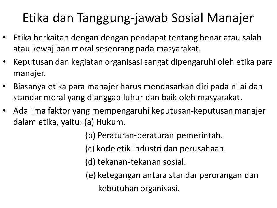 Etika berkaitan dengan dengan pendapat tentang benar atau salah atau kewajiban moral seseorang pada masyarakat.