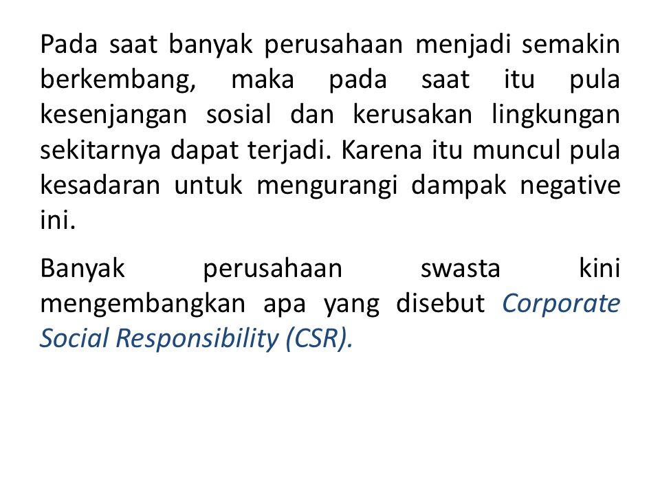 Alasan perusahaan terlibat dalam kegiatan sosial yaitu : Perusahaan dan karyawan merupakan bagian integral dari masyarakat setempat.