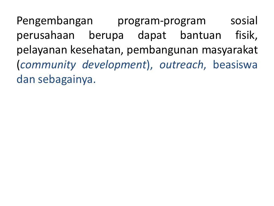Keraf (1998) menyebutkan beberapa alasan perlunya keterlibatan sosial perusahaan 1.