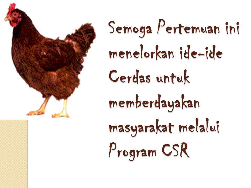 Semoga Pertemuan ini menelorkan ide-ide Cerdas untuk memberdayakan masyarakat melalui Program CSR