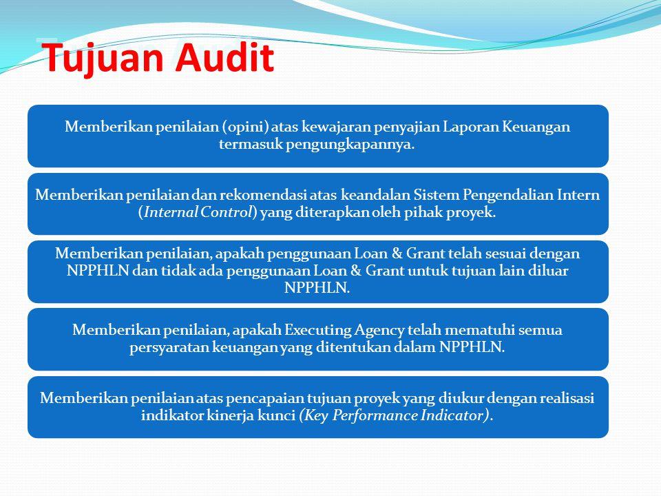 Tujuan Audit Memberikan penilaian (opini) atas kewajaran penyajian Laporan Keuangan termasuk pengungkapannya. Memberikan penilaian dan rekomendasi ata