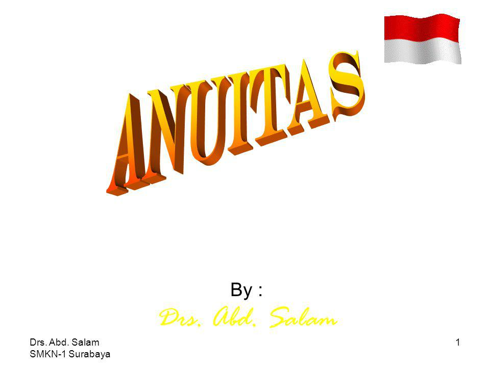 Drs. Abd. Salam SMKN-1 Surabaya 1 By : Drs. Abd. Salam