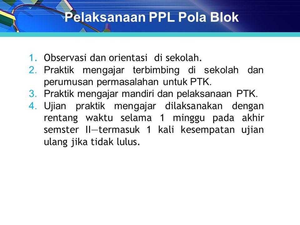 1.Observasi dan orientasi di sekolah.