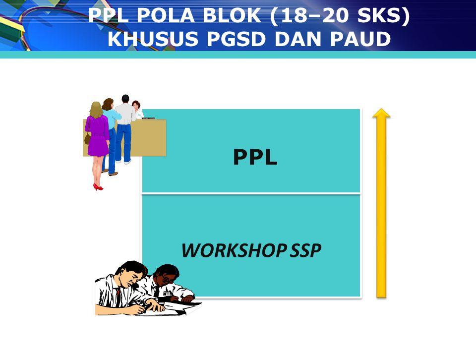 WORKSHOP SSP PPL POLA BLOK (18–20 SKS) KHUSUS PGSD DAN PAUD PPL