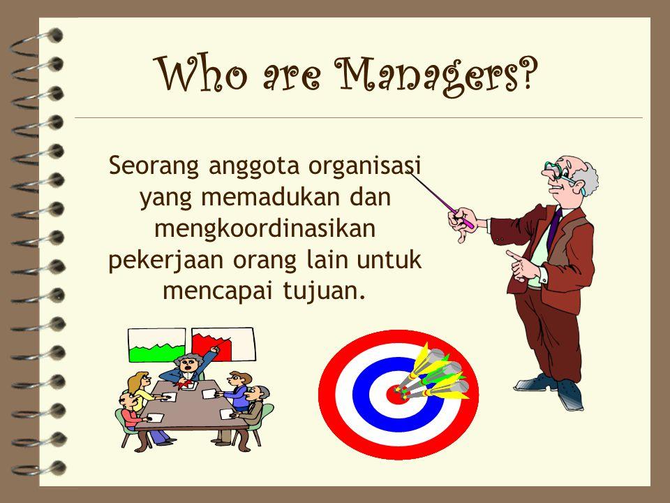 4 Peserta memiliki gambaran yang jelas tentang fungsi manajemen 4 Peserta mampu menggunakan fungsi manajemen untuk mencapai tujuan.